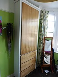 Fitted Oak Alcove Wardrobe with Draws